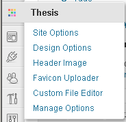 Dashboard Menu - Thesis 1.8